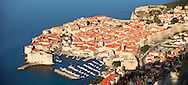 Stock photos of  Arial view of Dubrovnik harbour - Croatia .<br /> <br /> Visit our MEDIEVAL PHOTO COLLECTIONS for more   photos  to download or buy as prints https://funkystock.photoshelter.com/gallery-collection/Medieval-Middle-Ages-Historic-Places-Arcaeological-Sites-Pictures-Images-of/C0000B5ZA54_WD0s