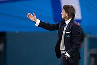 ST PETERSBURG, RUSSIA – NOVEMBER 23, 2017. UEFA Europa League Group L Round 5 football match at Saint Petersburg Stadium. Zenit St Petersburg 2 -1 FK Vardar. FC Zenit St Petersburg's head coach Roberto Mancini.