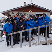 PBI VIP group at Wapusk Adventures dog sledding kennels in Churchill.