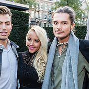 NLD/Amsterdam/20161010 - Perspresentatie SBS Queen of the Jungle, Chiel Harten, Djamila Celina Melcherts en Koen van Dijk