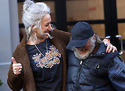 Apr 01, 2016 - New York, NY, USA - Actors Will Smith and Helen Mirren on the set of the new movie 'Collateral Beauty' <br /> (Credit Image: © Exclusivepix Media)