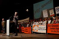 """10 FEB 2003, BERLIN/GERMANY:<br /> Wolfgang Clement, SPD, Bundeswirtschaftsminister, haelt eine Rede, waehrend der Abschlusskundgebung der Demonstration unter dem Motto """"Jetzt reicht´s - Das Handwerk gegen den Stillstand"""", links: Dieter Philipp, Praesident Zentralverband des Deutschen Handwerks, ZDH, Tempodrom<br /> IMAGE: 20030210-01-007<br /> KEYWORDS: Demo, Protest,"""