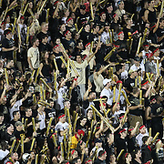 UCF fans celebrate during an NCAA football game between the Boston College Eagles and the UCF Knights at Bright House Networks Stadium on Saturday, September 10, 2011 in Orlando, Florida. (AP Photo/Alex Menendez)