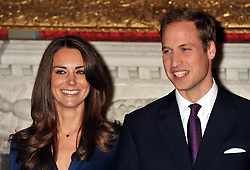 File photo dated 16/11/10 of Prince William and Kate Middleton, during a photocall in the State Apartments of St James's Palace, London to mark their engagement. The Duchess of Cambridge will have spent a decade as an HRH when she and the Duke of Cambridge mark their 10th wedding anniversary on Thursday. Issue date: Wednesday April 28, 2021.