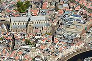 Nederland, Noord-Holland, Haarlem, 09-04-2014; centrum met Grote of Sint Bavokerk.<br /> City Haarlem.<br /> luchtfoto (toeslag op standard tarieven);<br /> aerial photo (additional fee required);<br /> copyright foto/photo Siebe Swart