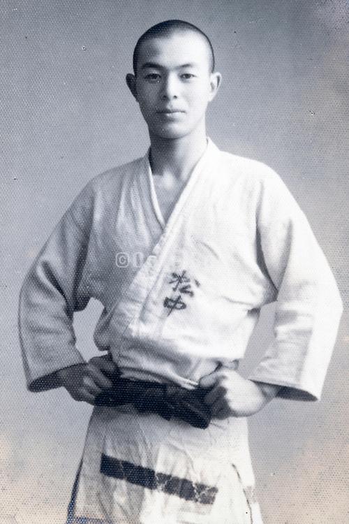 martial arts practioner portrait Japan ca 1940s