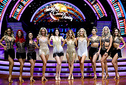 Luba Mushtuk (left) Dianne Buswell, Janette Manrara, Faye Tozer, Lauren Steadman, Stacey Dooley, Ashley Roberts, Karen Clifton, Nadiya Bychkova and Amy Dowden pose for photographers during a photocall before the opening night of the Strictly Come Dancing Tour 2019 at the Arena Birmingham, in Birmingham. Picture date: Thursday January 17, 2019. Photo credit should read: Aaron Chown/PA Wire
