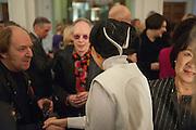 RICHARD WILSON; ANTONY FAWCETT; MARIKO MORI, Mariko Mori opening, Royal Academy Burlington Gardens Gallery. London. 11 December 2012.