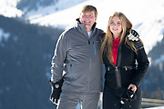 Fotosessie met de koninklijke familie in Lech /// Photoshoot with the Dutch royal family in Lech .<br /> <br /> Op de foto/ On the photo: Koningin Maxima en  Prinses Amalia /////  King Willem Alexanderand Princess Amalia