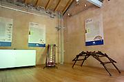 Stanze del Ecomuseo Adda di Leonardo con le riproduzioni dei progetti di Leonardo Da Vinci...The Adda ecomuseum's rooms, with the riproductions of Leonardo da Vinci's projects