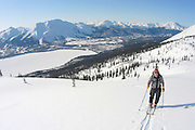 Alaska , Brooks Range. Iniakuk Lake Lodge. Backcountry Skiing.