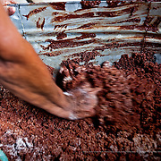 Making home-made chocolate. Tapachula, Mexico.