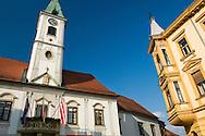 Architecture surrounding the main square in Varazdin, Croatia © Rudolf Abraham