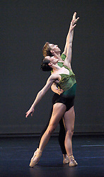 Royal New Zealand Ballet <br /> From Here to There<br /> at The Barbican Theatre, London, Great Britain <br /> rehearsal <br /> 14th July 2011 <br /> <br /> <br /> A Song in the Dark<br /> Choreography by Andrew Simmons<br /> <br /> <br /> Photograph by Elliott Franks