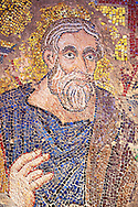 14th Century Mosaic of the Profit Abraham from the vault of the ante baptistery ( south section ), Basilica San Marco ( St Mark's Basilica ) Venice, Italy