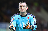 Rotherham United Goalkeeper Lee Camp looks on. Skybet football league Championship match, Burnley v Rotherham United at Turf Moor in Burnley, Lancs on Saturday 20th February 2016.<br /> pic by Chris Stading, Andrew Orchard sports photography.