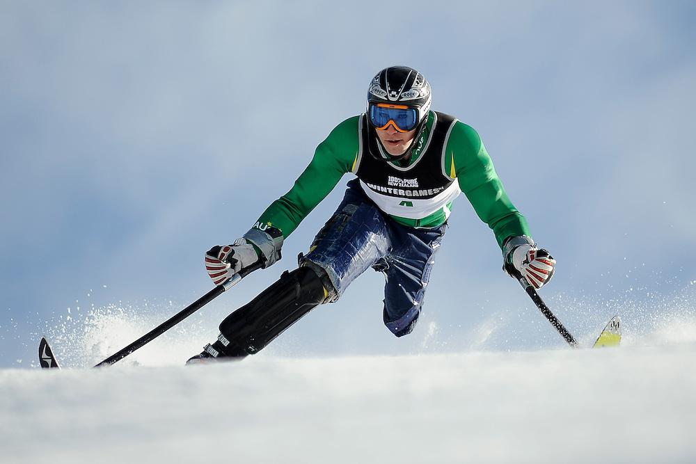 Competitor name, Alpine Slalom Adaptive, Winter Games, Coronet Peak, Thursday August 25, 2011...Photo: Mark Tantrum/www.marktantrum.com