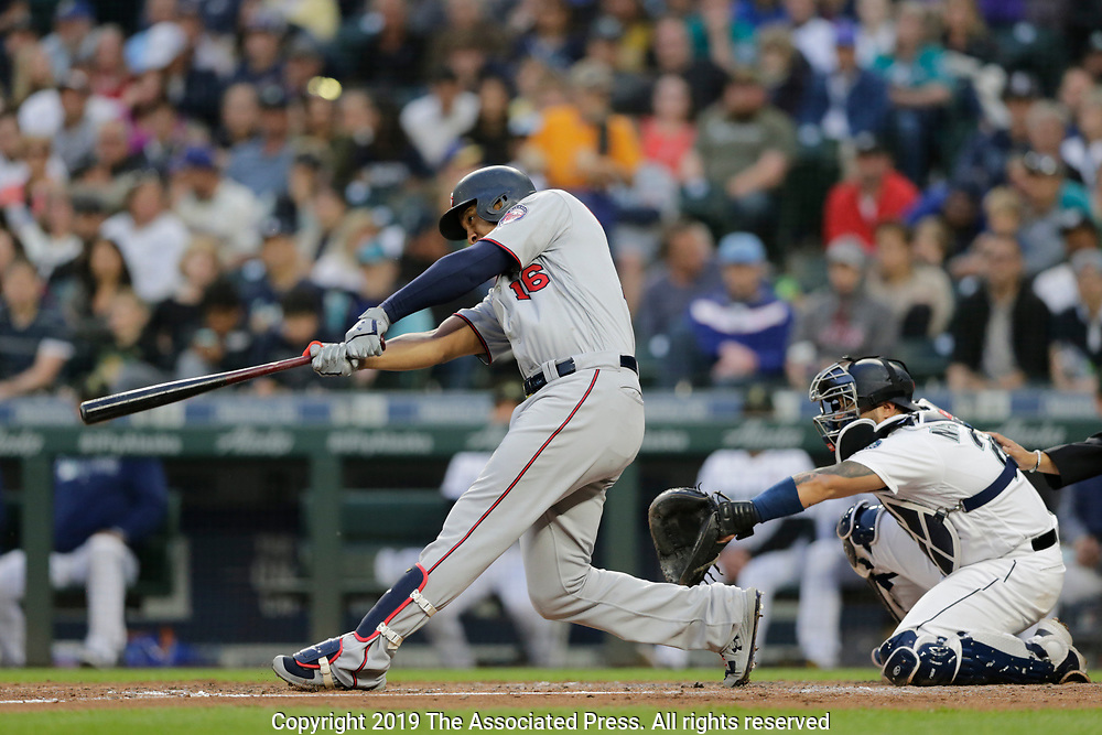 Minnesota Twins Seattle Mariners during a baseball game, Saturday, May 18, 2019, in Seattle. (AP Photo/John Froschauer)<br /> <br /> Seattle Mariners Minnesota Twins during a baseball game, Saturday, May 18, 2019, in Seattle. (AP Photo/John Froschauer)