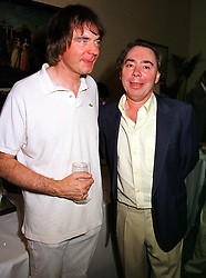 Left to right, brothers JULIAN LLOYD WEBBER and LORD LLOYD-WEBBER at a party in London on 8th September 1999.MWA 12