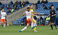 Blackpool's Kevin Stewart and Oxford United's James Henry<br /> <br /> Photographer Rob Newell/CameraSport<br /> <br /> Sky Bet League One Play-Off Semi-Final 1st Leg - Oxford United v Blackpool - Tuesday 18th May 2021 - Kassam Stadium - Oxford<br /> <br /> World Copyright © 2021 CameraSport. All rights reserved. 43 Linden Ave. Countesthorpe. Leicester. England. LE8 5PG - Tel: +44 (0) 116 277 4147 - admin@camerasport.com - www.camerasport.com