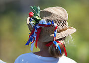 Hamburg. GERMANY. French Supporters hat.  Friday, Morning Quarter Finals at the 2014 FISA Junior World rowing. Championships.  13:50:38  Friday  08/08/2014  [Mandatory Credit; Peter Spurrier/Intersport-images]