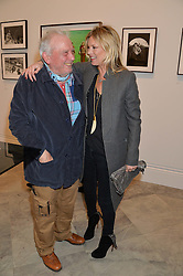 DAVID BAILEY and KATE MOSS at a private view of photographs by David Bailey entitled 'Bailey's Stardust' at the National Portrait Gallery, St.Martin's Place, London on 3rd February 2014.
