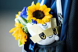 Mascot of Olympic games and Benjamin Savsek, Olympic gold medalist during his arrival from Tokyo 2020 on July 28, 2021 in Airport Joze Pucnik, Brnik, Ljubljana, Slovenia. Photo by Matic Klansek Velej / Sportida