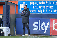 Plymouth Argyle manager Derek Adams sees his side go behind during the EFL Sky Bet League 1 match between Luton Town and Plymouth Argyle at Kenilworth Road, Luton, England on 17 November 2018.