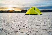 Camping on the Ibex hardpan. Ibex, West Desert, Utah