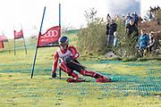 Senior skier, Casper Dyrbye from the Danish National Alpin team and winner of the CopenHill slalom contest.