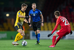Hallur Hansson (AC Horsens) under kampen i 3F Superligaen mellem FC Nordsjælland og AC Horsens den 19. februar 2020 i Right to Dream Park, Farum (Foto: Claus Birch).