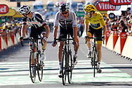 Tom Dumoulin (NED - Team Sunweb) - Christopher Froome and Geraint Thomas (GBR - Team Sky) during the 105th Tour de France 2018, Stage 14, Saint-Paul-trois-Chateaux - Mende (188 km) on July 21th, 2018 - Photo Luca Bettini / BettiniPhoto / ProSportsImages / DPPI