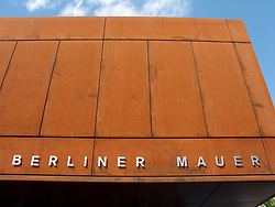 New Berlin Wall Memorial visitor centre on Bernauer Street beside new recreated death strip of Berlin wall Germany