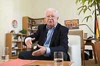 17 JUN 2015, BERLIN/GERMANY:<br /> Rudolf Seiters, Praesident Deutsches Rotes Kreuz, DRK, Bundesinnenminister a.D., waehrend einem Interview, in seinem Buero, DRK Generalsekretariat<br /> IMAGE: 20150617-02-023