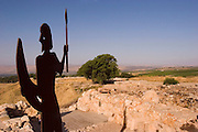 Israel, Upper Galilee, Tel Hazor. The Israelite tower