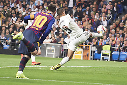 March 2, 2019 - Madrid, Madrid, Spain - Raphael Varane (defender; Real Madrid), Lionel Messi (forward; Barcelona) in action during La Liga match between Real Madrid and FC Barcelona at Santiago Bernabeu Stadium on March 3, 2019 in Madrid, Spain (Credit Image: © Jack Abuin/ZUMA Wire)