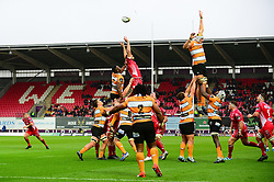 Line out - Mandatory by-line: Dougie Allward/JMP - 02/11/2019 - RUGBY - Parc y Scarlets - Llanelli, Wales - Scarlets v Toyota Cheetahs - Guinness PRO14