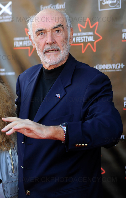 Stars turned out for the premier of Director Sam Mendes new film Away We Go which opened the 2009 Edinburgh Film Festival.  Pictured Sir Sean Connery.