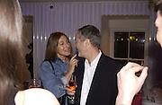 Terry and Trisha Jones. I.D. magazine dinner for John Dempsey of Mac cosmetics, Fifth floor restaurant, Harvey Nichols. 17 December 2002. © Copyright Photograph by Dafydd Jones 66 Stockwell Park Rd. London SW9 0DA Tel 020 7733 0108 www.dafjones.com