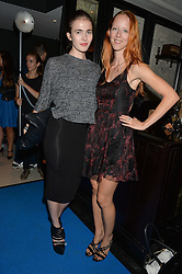 Left to right, MORWENNA LYTTON COBBOLD and AMALIE KARDOUB at the Maybelline New York: Party, part of the London Fashion Week Spring Summer 15 held at Tredwell's, 4a Upper St Martins Lane, London on 12th September 2014.