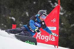 Jure Hafner (SLO) competes during Qualification Run of Men's Parallel Giant Slalom at FIS Snowboard World Cup Rogla 2016, on January 23, 2016 in Course Jasa, Rogla, Slovenia. Photo by Ziga Zupan / Sportida