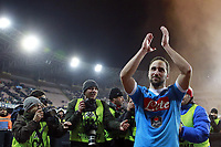 Esultanza Gonzalo Higuain Napoli, celebration    <br /> Napoli 16-01-2016 Stadio San Paolo<br /> Football Calcio Serie A 2015/2016 Napoli - Sassuolo<br /> Foto Cesare Purini / Insidefoto