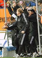 Fotball Tipeligaen Rosenborg ( RBK ) - Odd Grenland  6-0<br /> Jubel på 5-0 Per-Mathias Høgmo og Bjørn Hansen<br /> etter <br /> Foto: Carl-Erik Eriksson, Digitalsport