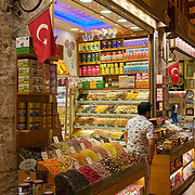 Spice shop in Egyptian market, Istanbul, Turkey