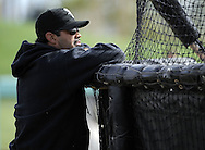 GLENDALE, AZ - FEBRUARY 24:  Manager Ozzie Guillen #13 of the Chicago White Sox looks on during a workout on February 24, 2010 at the White Sox training facility at Camelback Ranch in Glendale, Arizona. (Photo by Ron Vesely)