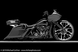 Purple Kush, built from a 2016 Road Glide by David Fravel of Columbus OH. Photographed by Michael Lichter in Columbus, OH on 2/9/2018. ©2018 Michael Lichter.