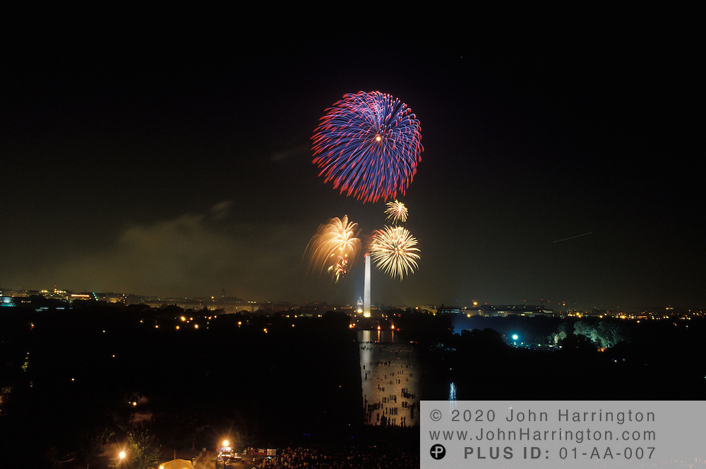 FOURTH OF JULY FIREWORKS ON THE MALL.