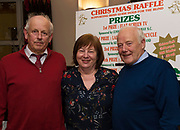 John and Marie Gannon Knockdoe   and Frank Downes, IGDA  at the Irish Guide Dogs for the Blinds Annual Christmas Raffle at the Menlo Park Hotel . Photo:Andrew Downes