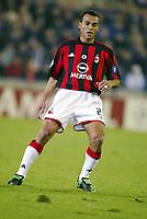 Fotball, 4. november 2003, Champions League,, Club Brugge ( Brügge )-Milan 0-1, Cafu, Milan