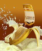 Digitally manipulated Conceptual image of Banana Cream Liquor